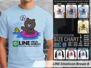 Kaos Emoticon Line Lucu, Kaos Desain Emoticon Line, Kaos Emoji Line Japan, Kaos Japan Line Emoticon