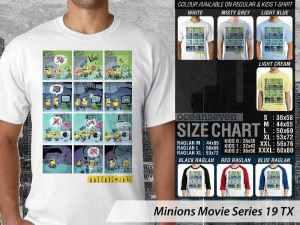 Kaos Film Minions Stuart, Kaos Film Minions Bob, Kaos Film Minions Kevin, Kaos Minions Terbaru Couple, Kaos Minions Anak-anak Couple